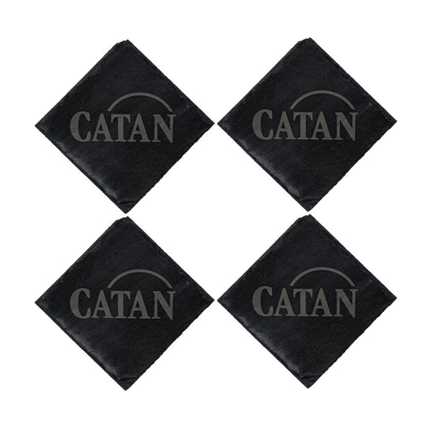 Catan Shop Official Store Settlers Of Catan Catan Slated Coaster Set